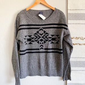 ☀️Gap Aztec Print Merino Wool Sweater☀️ Sz L